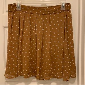 Old Navy Small Brown and White Polka Dot Skirt